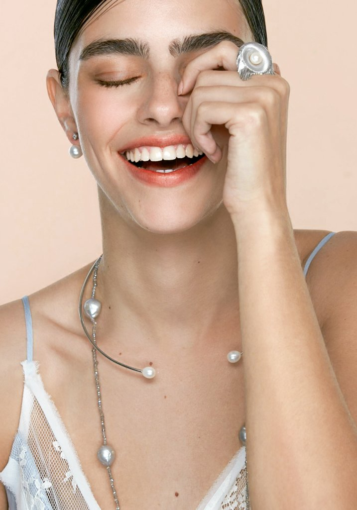 Pérolas joias tendência contemporânea