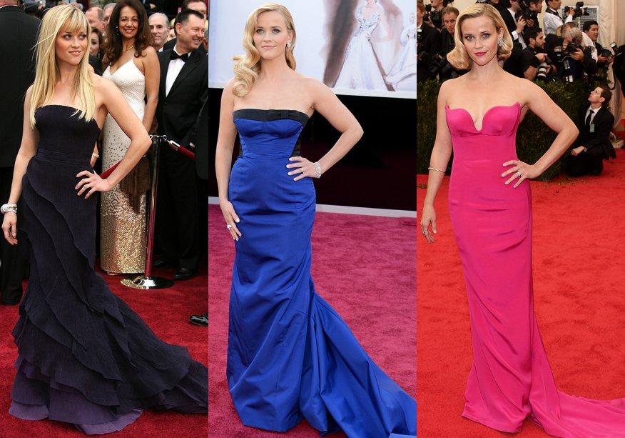 <strong>Reese Witherspoon //tomara que caia com cauda</strong> - o visual com pegada retrôé a cara deeventoschiques.
