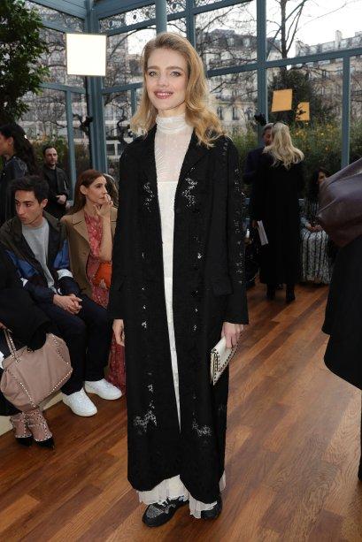 Natalia Vodianova no desfile da Valentino