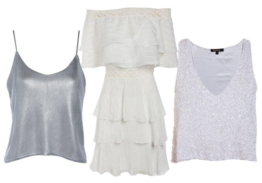 <strong>Bo.Bô</strong>. A coleção de Réveillon 2016 traz desde peças com pegada praiana, como o vestido (R$ 1 698) a itens mais festivos, como o top de paetês (R$ 1 298) e o metalizado (R$ 698).