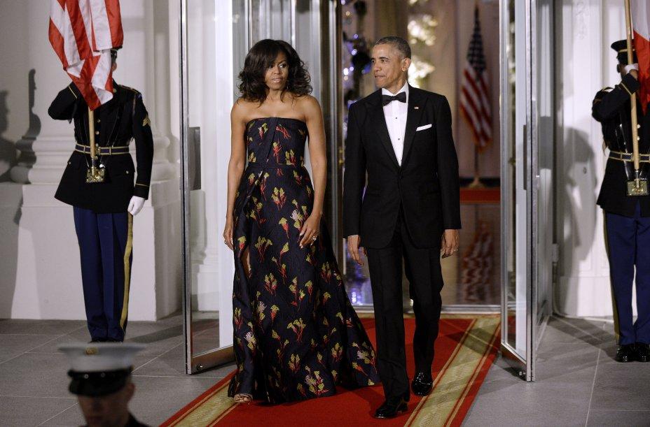 Vestido: Jason Wu // Evento: Jantar para o primeiro-ministro do Canadá // Data: 10.03.16