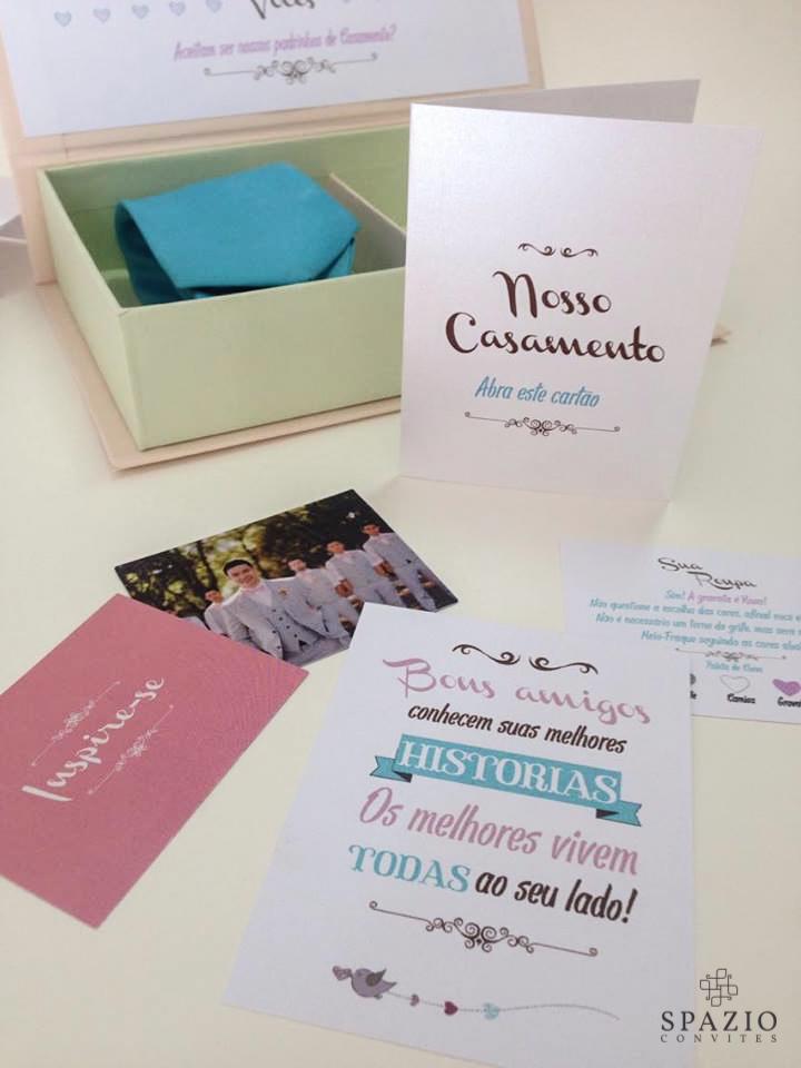 Ideias de convites para padrinhos de casamento
