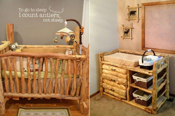 quartos de bebê estilo rústico