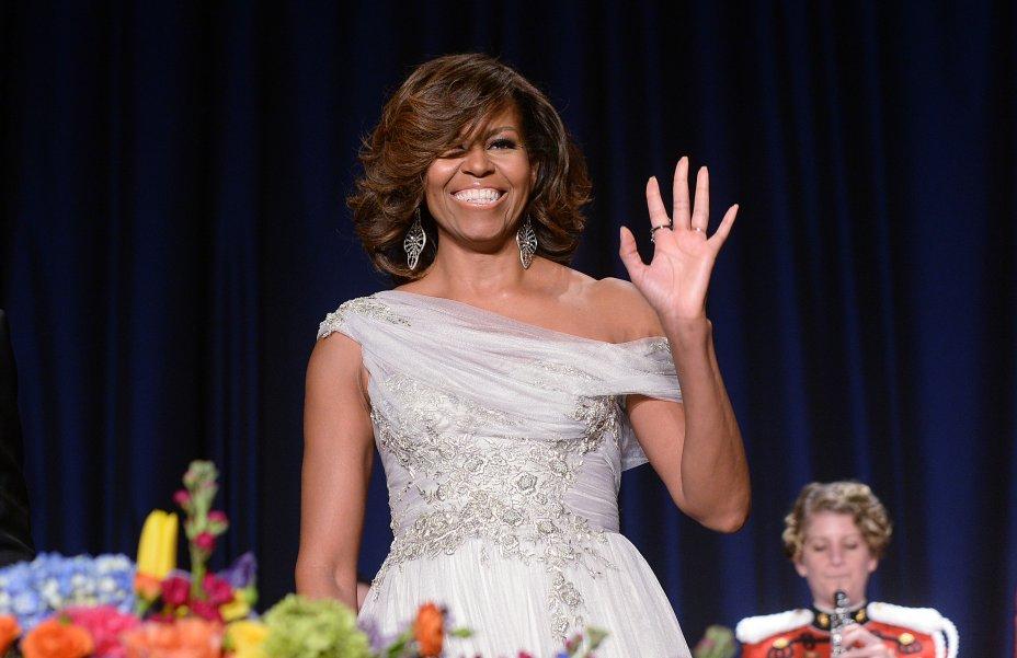 Vestido: Marchesa // Evento: Baile de gala da White House Correspondent's Association // Data: 03.05.14