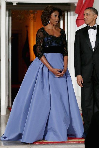 Vestido: Carolina Herrera // Evento: Jantar para o presidente francês // Data: 11.02.14