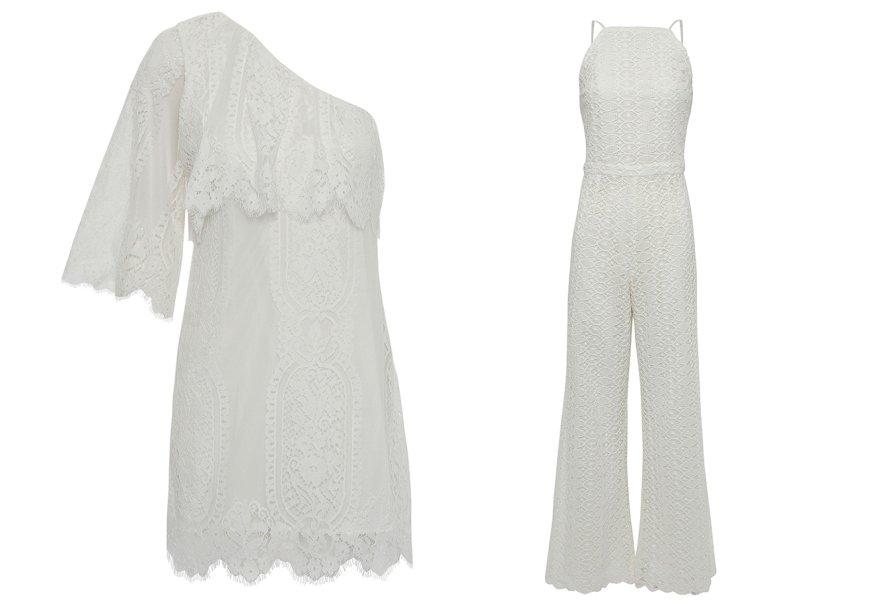 <strong>Kika Simonsen</strong>. Saem as estampas características da grife, entram as texturas de renda (o vestido é R$ 590) e guipire (o macacão está à venda por R$ 1 320).