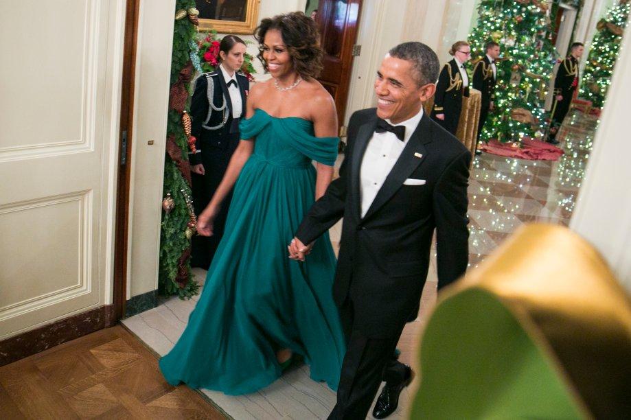 Vestido: Marchesa // Evento: Recepção para os homenageados do Kennedy Center // Data: 08.12.13