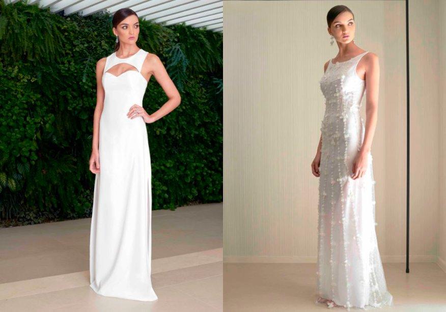 <strong>Le Dress Atelier</strong>. Vai celebrar a virada em uma festa de gala? Aposte em um vestido longo com detalhes fashionistas como o decote nadador e os bordados tridimensionais.