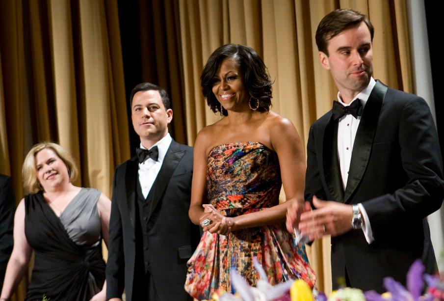 Vestido: Naeem Khan // Evento: Jantar da White House Correspondent's Association // Data: 28.04.12