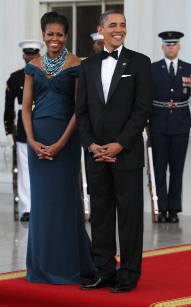 Vestido: Marchesa // Evento: Jantar para o primeiro-ministro britânico // Data: 14.03.12