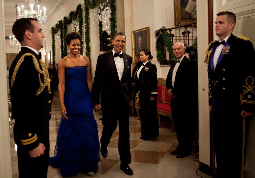 Vestido: Vera Wang // Evento: Recepção para os homenageados do Kennedy Center // Data: 04.12.11