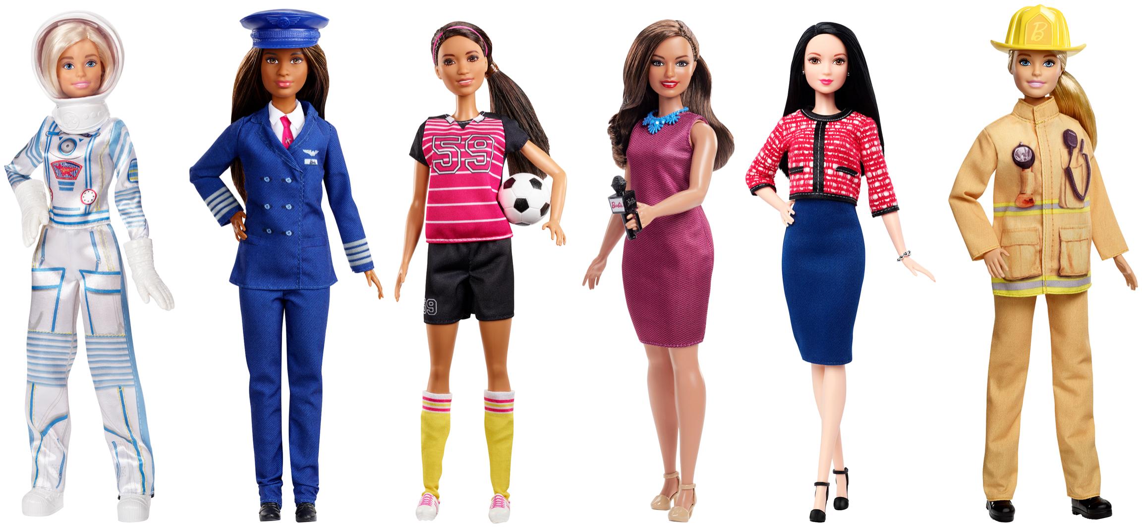 Novas bonecas da Barbie prestigiam outras profissões