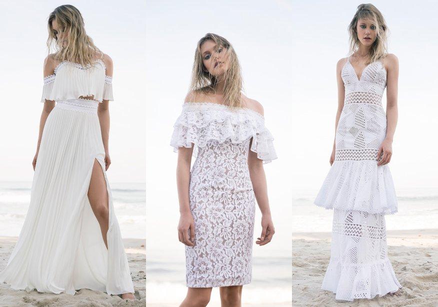 <strong>PatBo</strong>. A White Collection foi inspirada na busca pessoal da própria estilista Patricia Bonaldi por um ano novo leve. As peças feitas com tecidos fluidos, rendas bordadas e de crepe bordado à mão reforçam o DNA da marca.