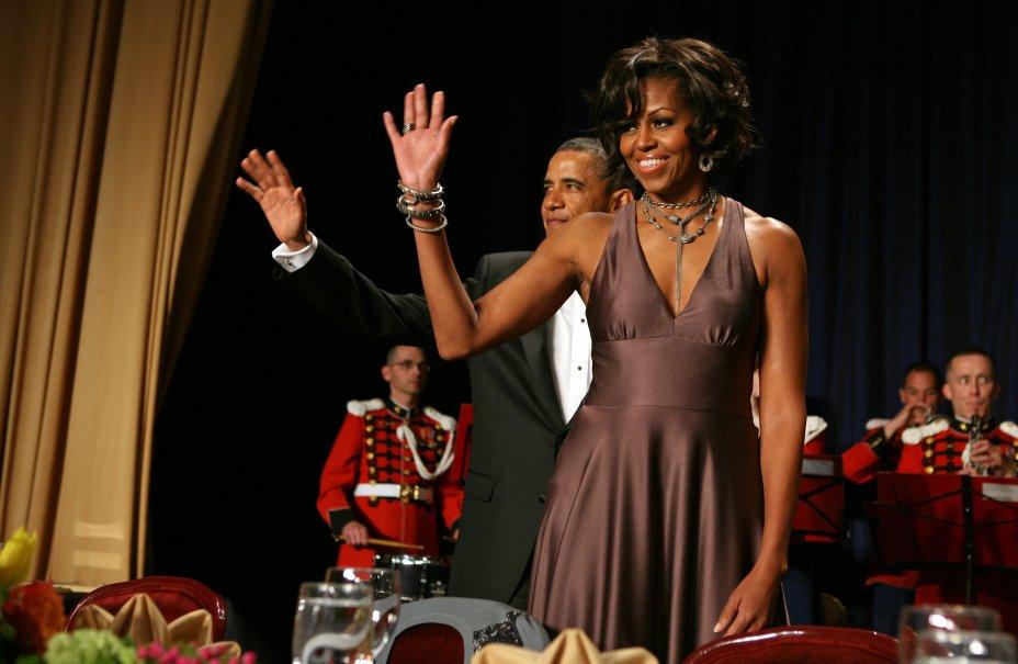 Vestido: Halston // Evento: Jantar da White House Correspondent's Association // Data: 30.04.11