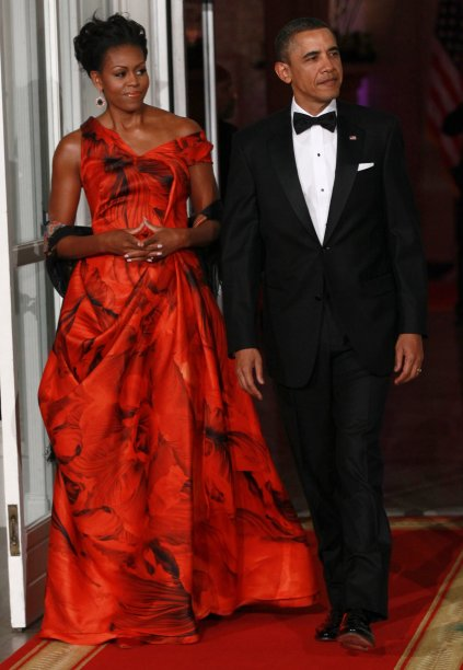 Vestido: Alexander McQueen // Evento: Jantar para o presidente chinês // Data: 19.01.11