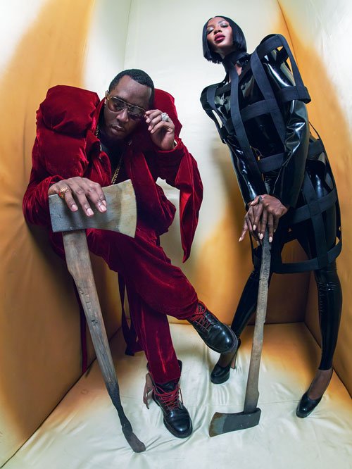 Naomi Campbell e P. Diddy.