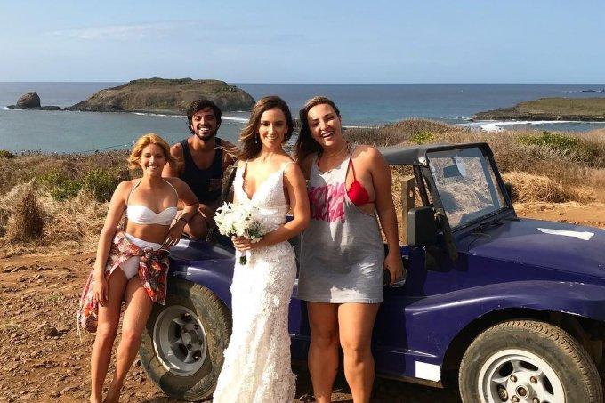 Isabella Santoni e Rodrigo Simas salvam noiva a caminho do casamento em Fernando de Noronha