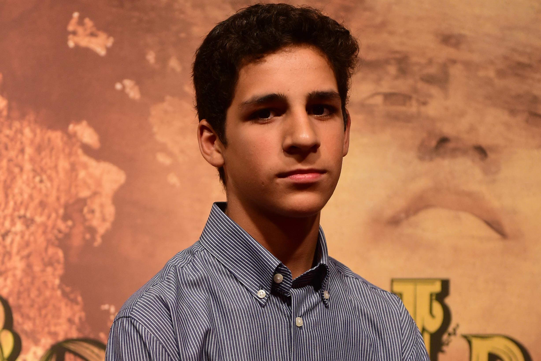 Ryan Soares na coletiva de imprensa de 'Dois Irmãos'