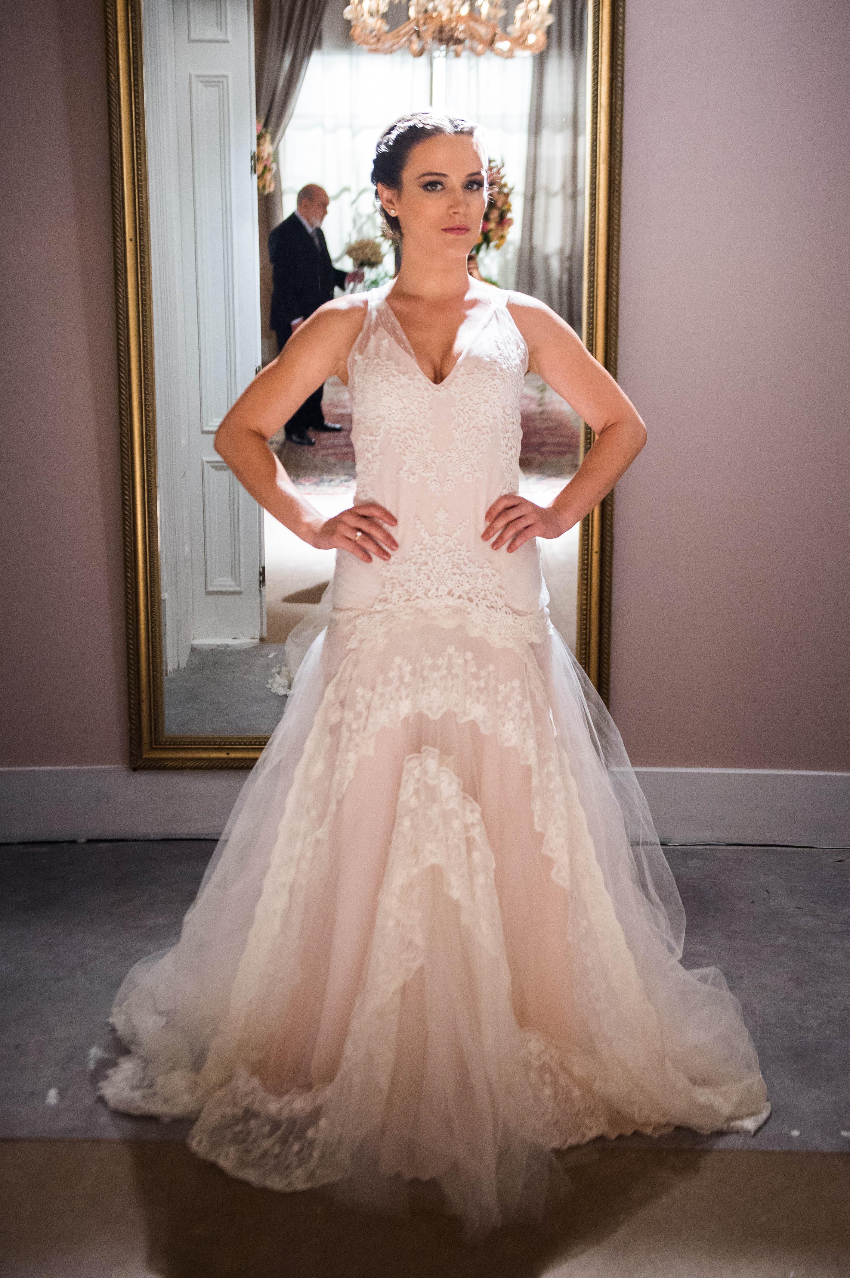 """Vestido de noiva de Clara, em """"O Outro Lado do Paraíso"""""""