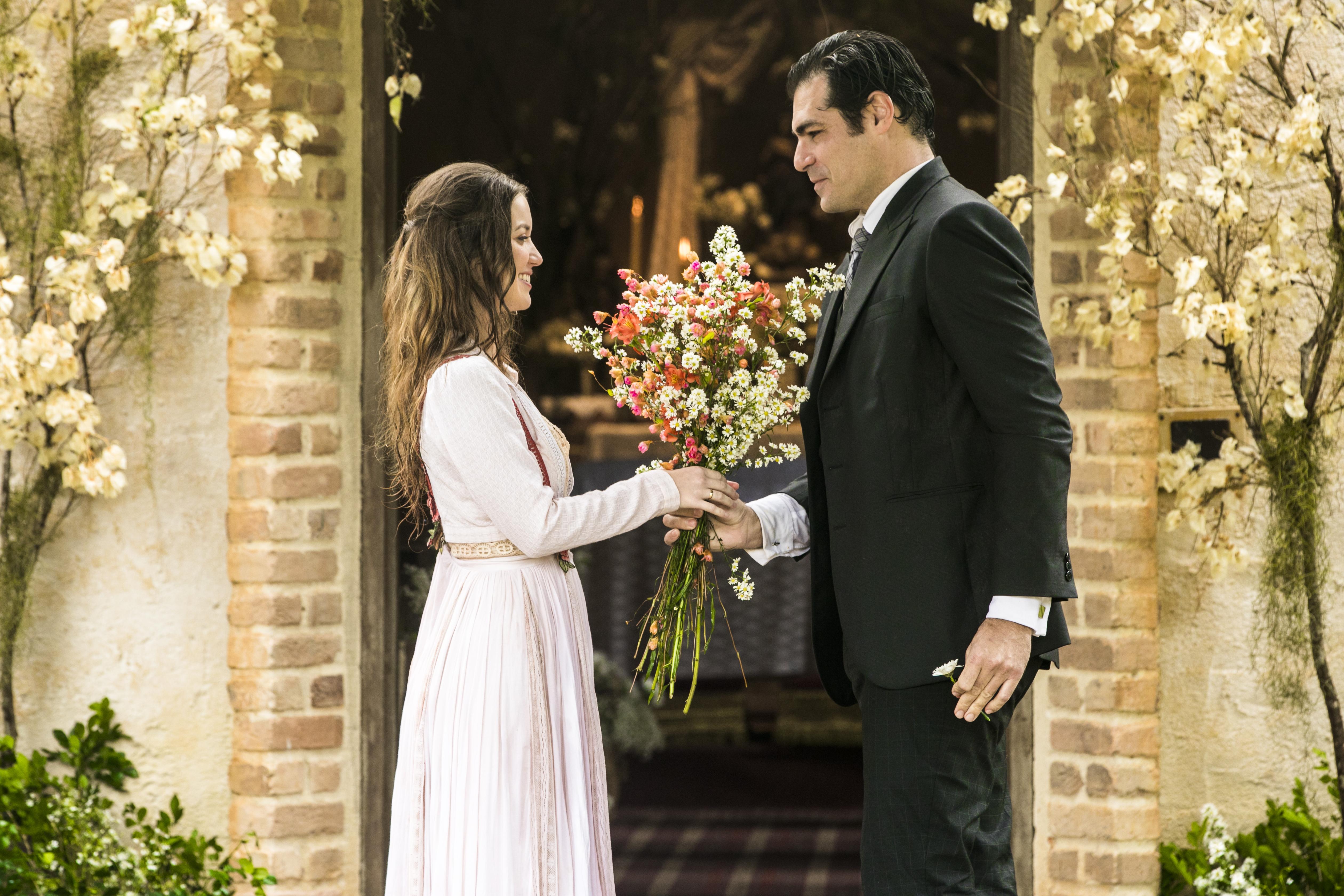 Casamento de Darcy (Thiago Lacerda) e Elisabeta (Nathalia Dill)