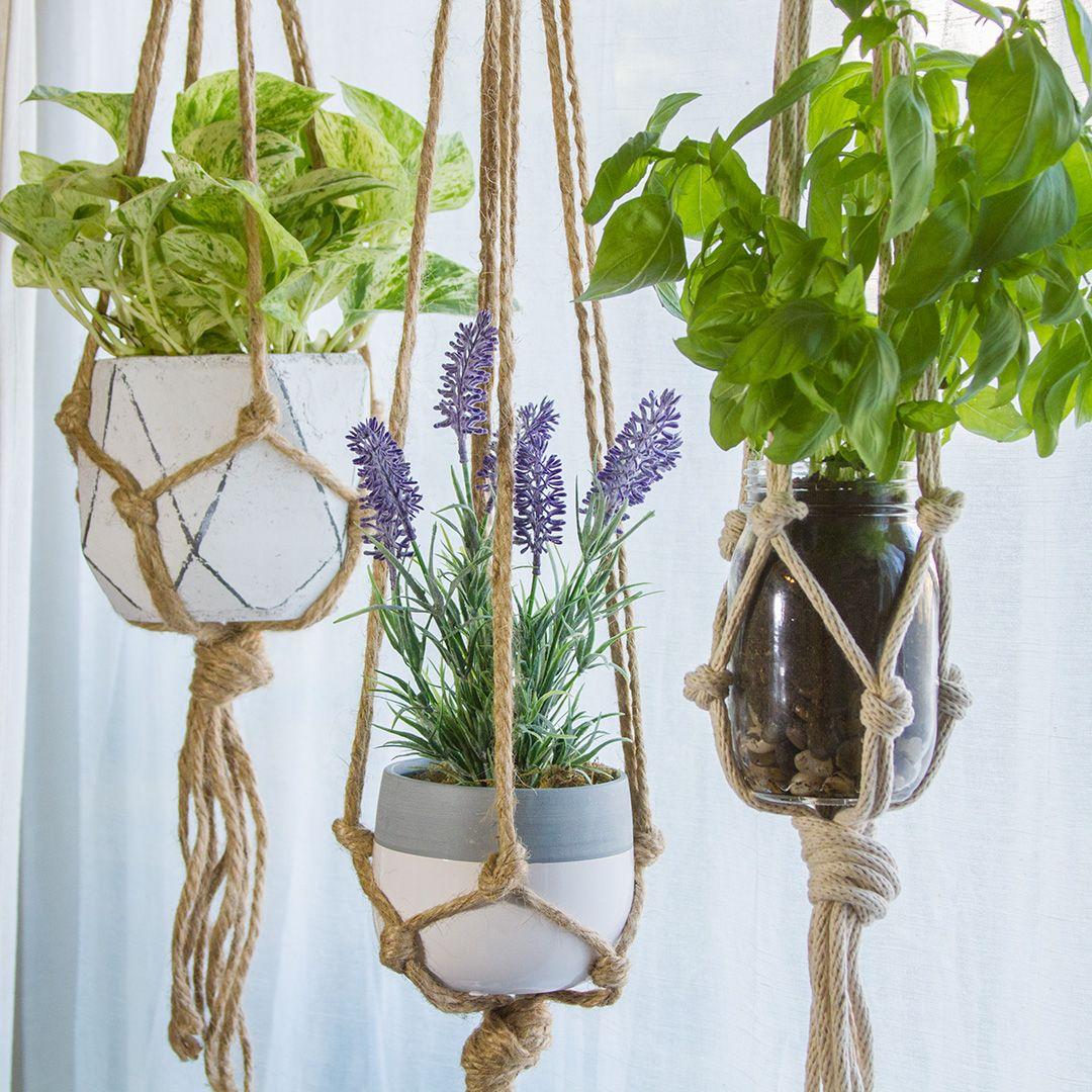 Pendente macramê para vasos DIY