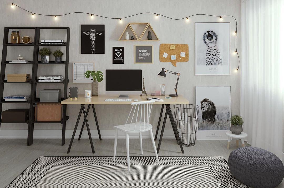 cordão de luz no escritório