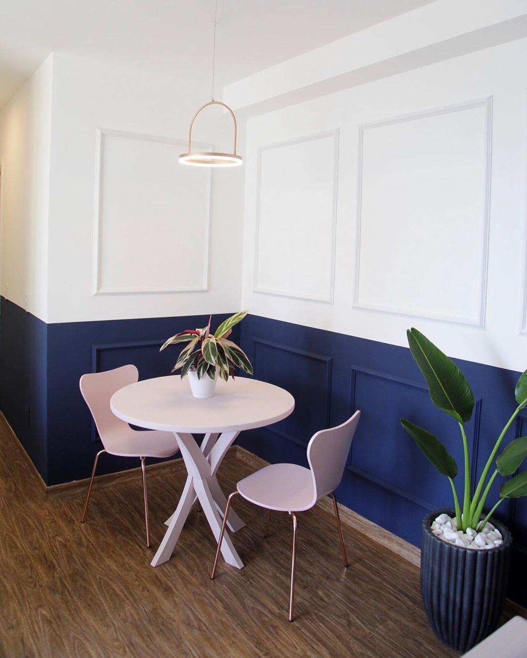 parede bicolor pintura duas cores