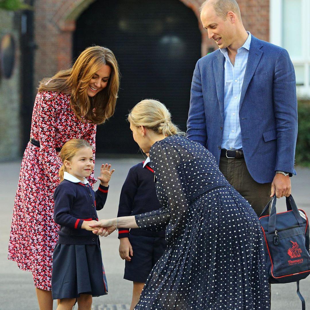 familia real charlotte primeiro dia de aula
