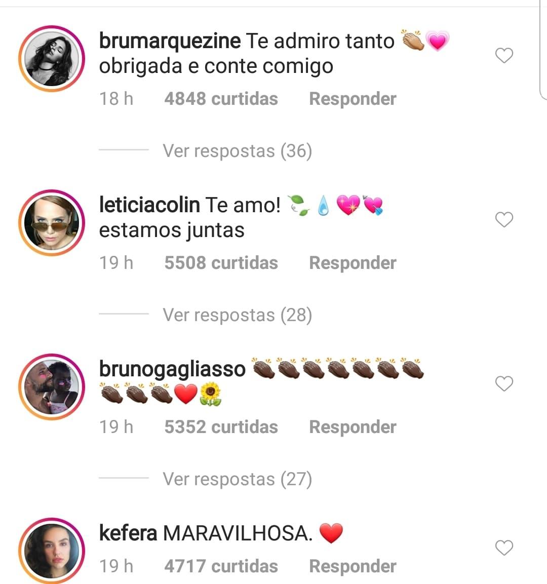 Print do Instagram de Fernanda Lima