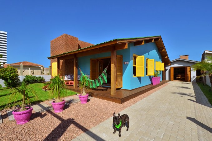 fachada colorida Arquitetando Ideias