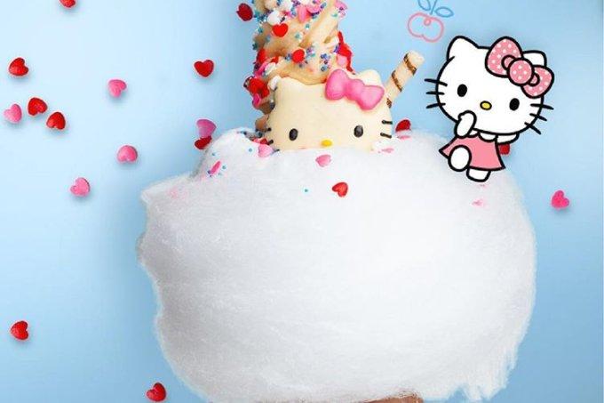 Sorvete de Hello Kitty da Dona Nuvem