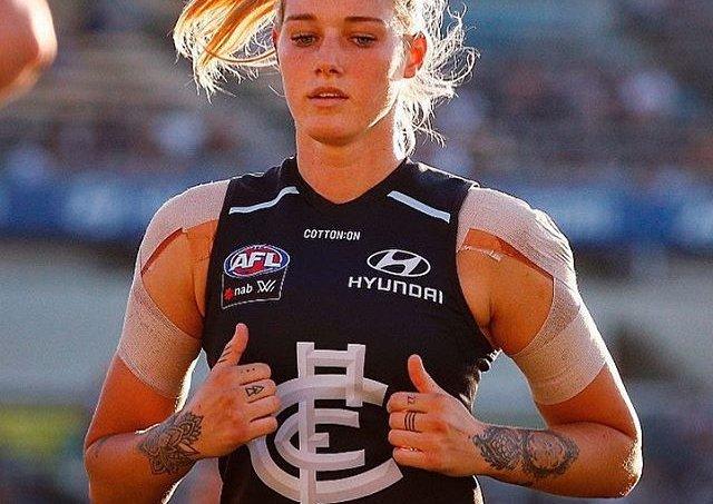 Tayla Harris, jogadora de futebol australiano