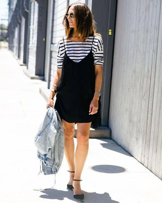 camiseta e slip dress