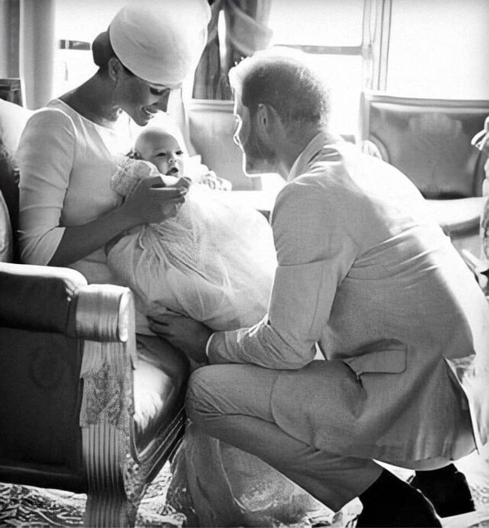 Meghan Markle e Príncipe Harry com Archie
