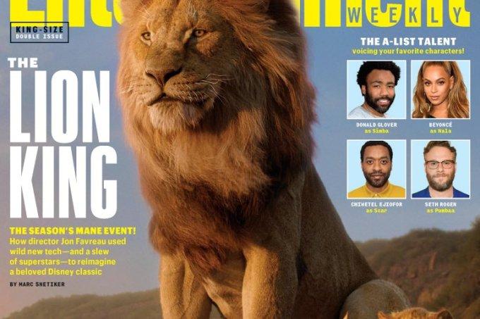 Capa Entertainment Weekly de 'O Rei Leão'