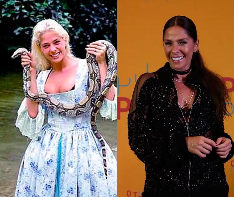 Adriane Galisteu em 'Xica da Silva' e na festa de lançamento de 'O Tempo Não Para'