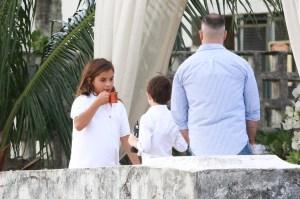Marcelo no batizado das gêmeas
