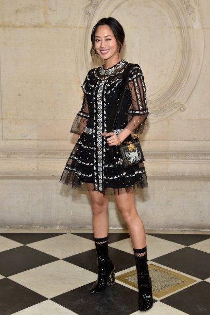 Aimee Song no desfile da Dior