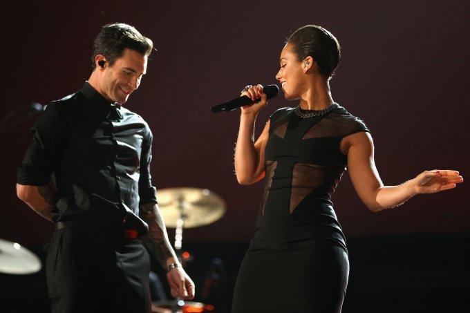 Adam Levine e Alicia Keys