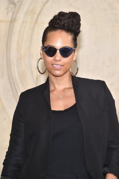 Alicia Keys no desfile da Dior