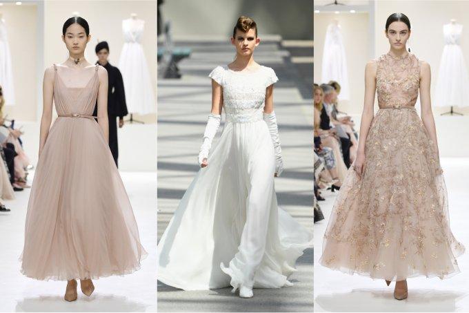 Vestidos Dior e Chanel direto da passarela para inspirar seu look de noiva