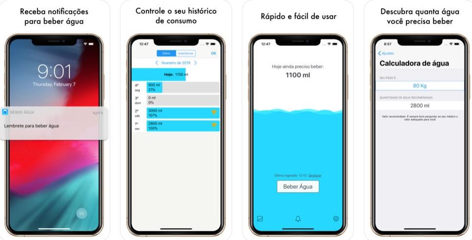 App beber água