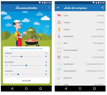 Apps para economizar tempo no dia a dia Churrascômetro