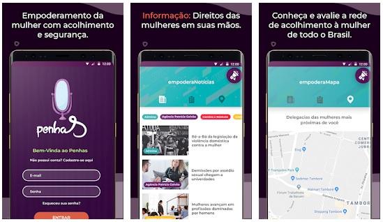 Apps violência doméstica PenhaS