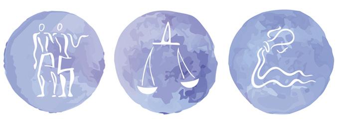 Astrologia - Signos de ar - Gêmeos Libra Aquário