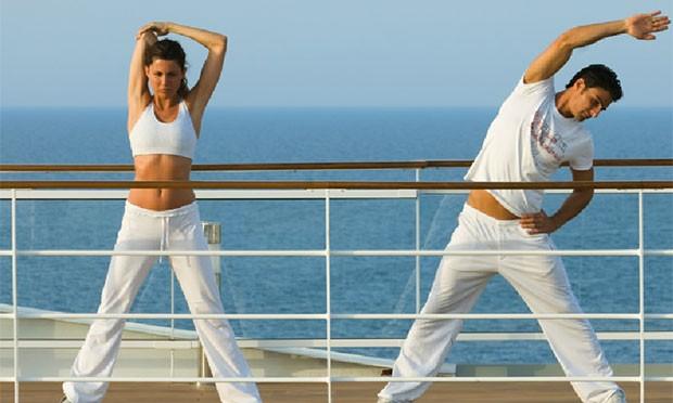 Cruzeiros oferecem ioga, meditação, massagem e outras atividades zen