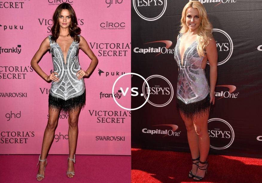 <strong>Barbara Fialho</strong> e <strong>Britney Spears</strong>vestem <strong>Davidson Zanine</strong>. A modelo brasileira e a cantora norte-americana caíram de amores pelo vestido supersexy da grife paulistana. Barbara usou o modelo com decote profundo e franjas na barra em uma festa da Victoria's Secret em dezembro de 2014; Britney, no ESPYs Awards, premiação do canal norte-americano ESPN, em julho de 2015.