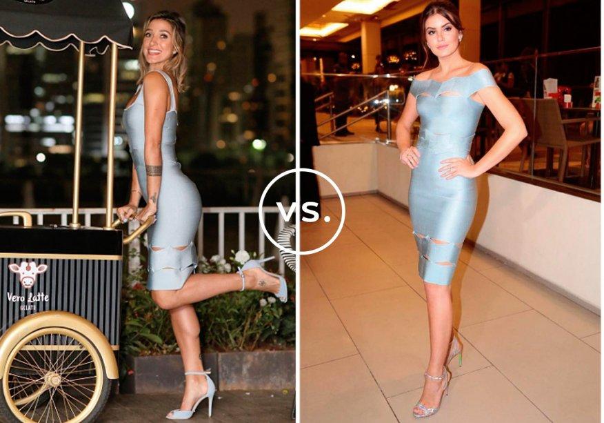 <strong>Gabriela Pugliesi</strong> e <strong>Camila Queiroz</strong> vestem <strong>Lolitta</strong>. Sexy e delicado na medida, o vestido de tricô não requer muitosacessórios. Tanto a blogger quanto a atriz investiram em sandálias de tom claro, brincos pequenos e penteado romântico.