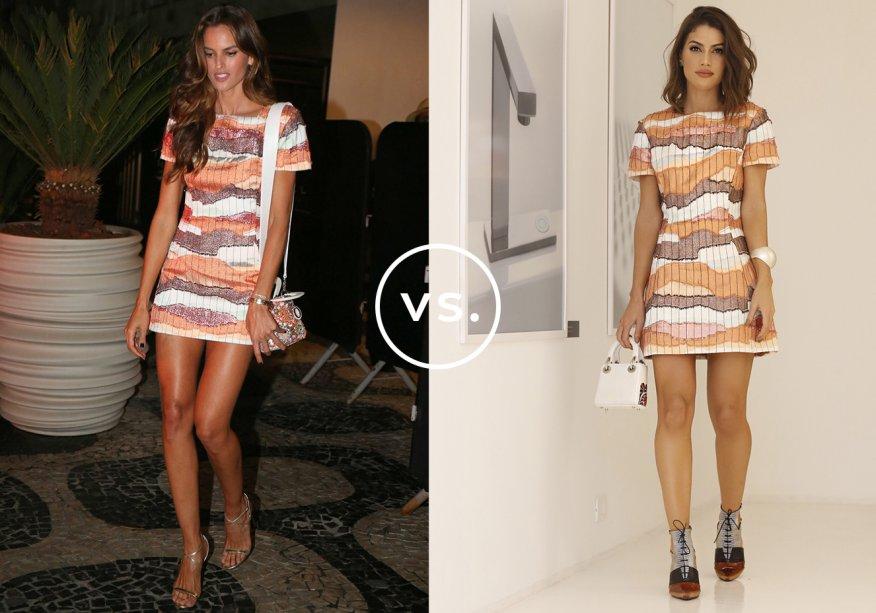 <strong>Izabel Goulart</strong> e <strong>Camila Coelho</strong> vestem<strong> Dior</strong>. Enquanto a modelo compôs uma produção bem feminina com sandálias de tiras finas e bolsa bordada, a blogger apostou na vibe fashionista dos sapatos de amarração e da minibag, tudo Dior.