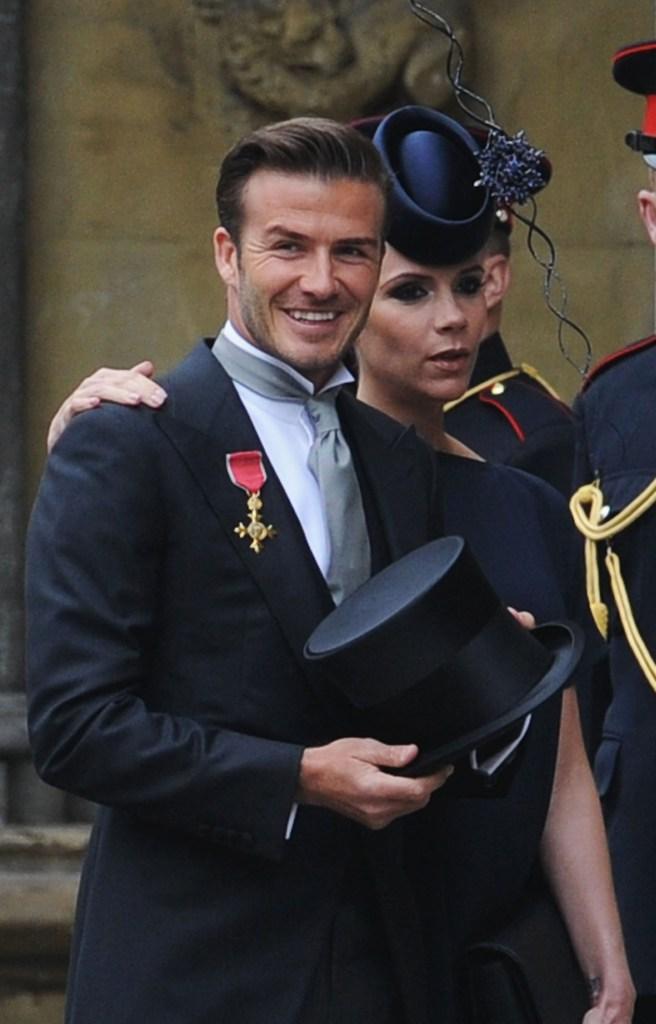 David Beckham no Casamento Real Príncipe William e Kate Middleton